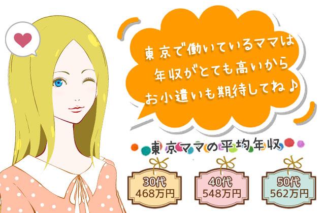 東京都のママは高額のお小遣いが期待できる